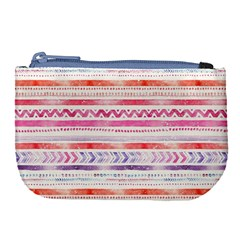 Watercolor Tribal Pattern Large Coin Purse