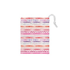Watercolor Tribal Pattern Drawstring Pouches (xs)