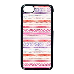 Watercolor Tribal Pattern Apple Iphone 7 Seamless Case (black)