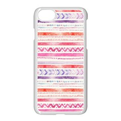 Watercolor Tribal Pattern Apple Iphone 7 Seamless Case (white)