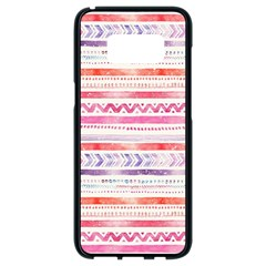 Watercolor Tribal Pattern Samsung Galaxy S8 Black Seamless Case