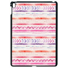 Watercolor Tribal Pattern Apple Ipad Pro 9 7   Black Seamless Case