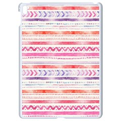 Watercolor Tribal Pattern Apple Ipad Pro 9 7   White Seamless Case