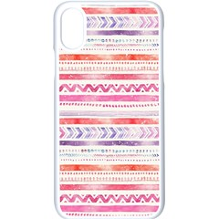 Watercolor Tribal Pattern Apple Iphone X Seamless Case (white) by tarastyle