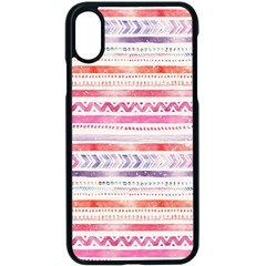 Watercolor Tribal Pattern Apple Iphone X Seamless Case (black)