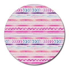Watercolor Tribal Pattern  Round Mousepads