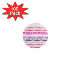 Watercolor Tribal Pattern  1  Mini Magnets (100 Pack)