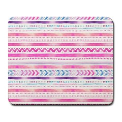 Watercolor Tribal Pattern  Large Mousepads