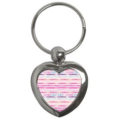 Watercolor Tribal Pattern  Key Chains (heart)  by tarastyle