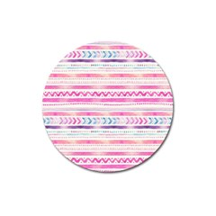 Watercolor Tribal Pattern  Magnet 3  (round) by tarastyle