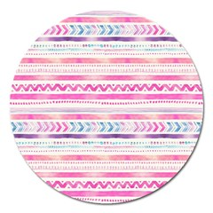 Watercolor Tribal Pattern  Magnet 5  (round)