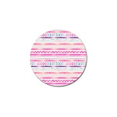 Watercolor Tribal Pattern  Golf Ball Marker (4 Pack)