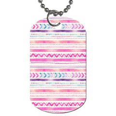 Watercolor Tribal Pattern  Dog Tag (two Sides) by tarastyle