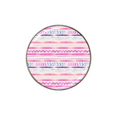 Watercolor Tribal Pattern  Hat Clip Ball Marker