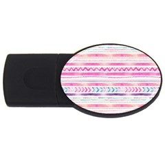 Watercolor Tribal Pattern  Usb Flash Drive Oval (4 Gb) by tarastyle