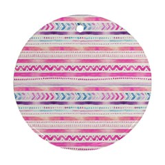 Watercolor Tribal Pattern  Round Ornament (two Sides)