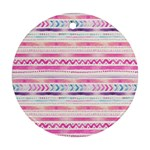 Watercolor Tribal Pattern  Round Ornament (Two Sides) Back