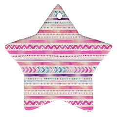 Watercolor Tribal Pattern  Star Ornament (two Sides)