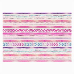 Watercolor Tribal Pattern  Large Glasses Cloth
