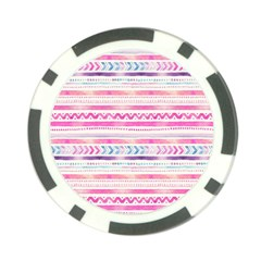 Watercolor Tribal Pattern  Poker Chip Card Guard