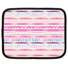 Watercolor Tribal Pattern  Netbook Case (large)