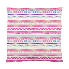 Watercolor Tribal Pattern  Standard Cushion Case (two Sides)