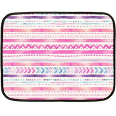 Watercolor Tribal Pattern  Double Sided Fleece Blanket (mini)