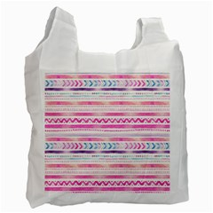 Watercolor Tribal Pattern  Recycle Bag (two Side)