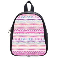 Watercolor Tribal Pattern  School Bag (small)