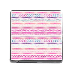 Watercolor Tribal Pattern  Memory Card Reader (square)