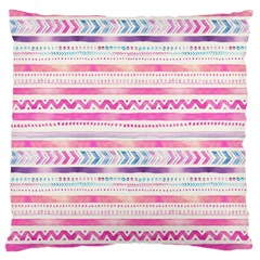 Watercolor Tribal Pattern  Large Cushion Case (one Side) by tarastyle