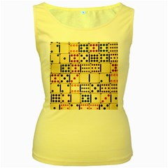 Old Domino Stones Women s Yellow Tank Top by Sapixe