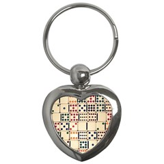 Old Domino Stones Key Chains (heart)  by Sapixe