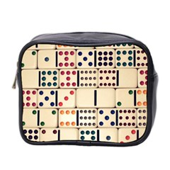 Old Domino Stones Mini Toiletries Bag 2 Side by Sapixe