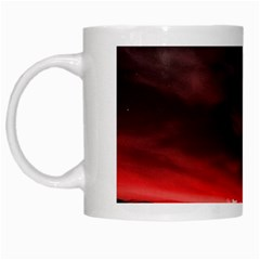 Outer Space Red Stars Star White Mugs by Sapixe