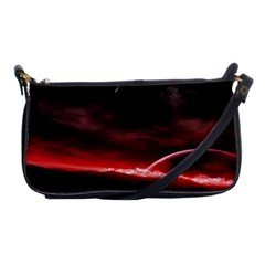 Outer Space Red Stars Star Shoulder Clutch Bags by Sapixe