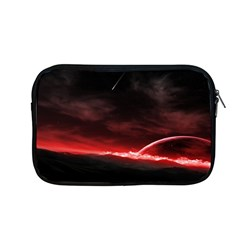 Outer Space Red Stars Star Apple Macbook Pro 13  Zipper Case by Sapixe