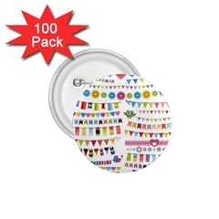 Owl Pattern 1 75  Buttons (100 Pack)  by Sapixe