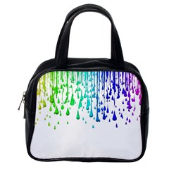Paint Drops Artistic Classic Handbags (one Side)