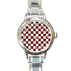 Pattern Background Texture Round Italian Charm Watch