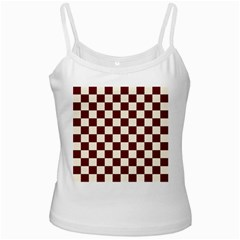 Pattern Background Texture White Spaghetti Tank
