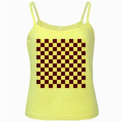 Pattern Background Texture Yellow Spaghetti Tank