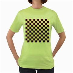 Pattern Background Texture Women s Green T-Shirt
