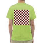 Pattern Background Texture Green T-Shirt Back