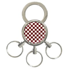 Pattern Background Texture 3-Ring Key Chains