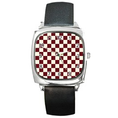 Pattern Background Texture Square Metal Watch