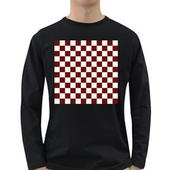 Pattern Background Texture Long Sleeve Dark T-Shirts