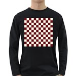Pattern Background Texture Long Sleeve Dark T-Shirts Front