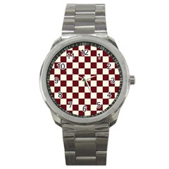 Pattern Background Texture Sport Metal Watch