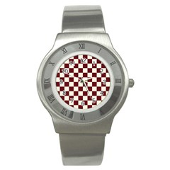 Pattern Background Texture Stainless Steel Watch